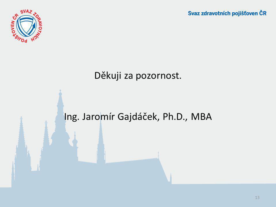 Děkuji za pozornost. Ing. Jaromír Gajdáček, Ph.D., MBA