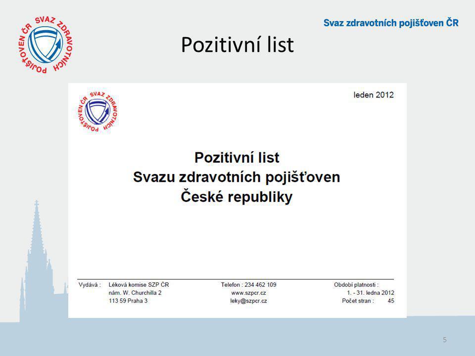 Pozitivní list