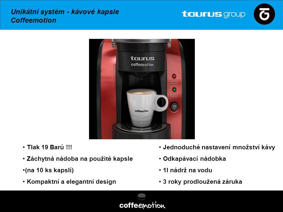 Unikátní systém - kávové kapsle Coffeemotion