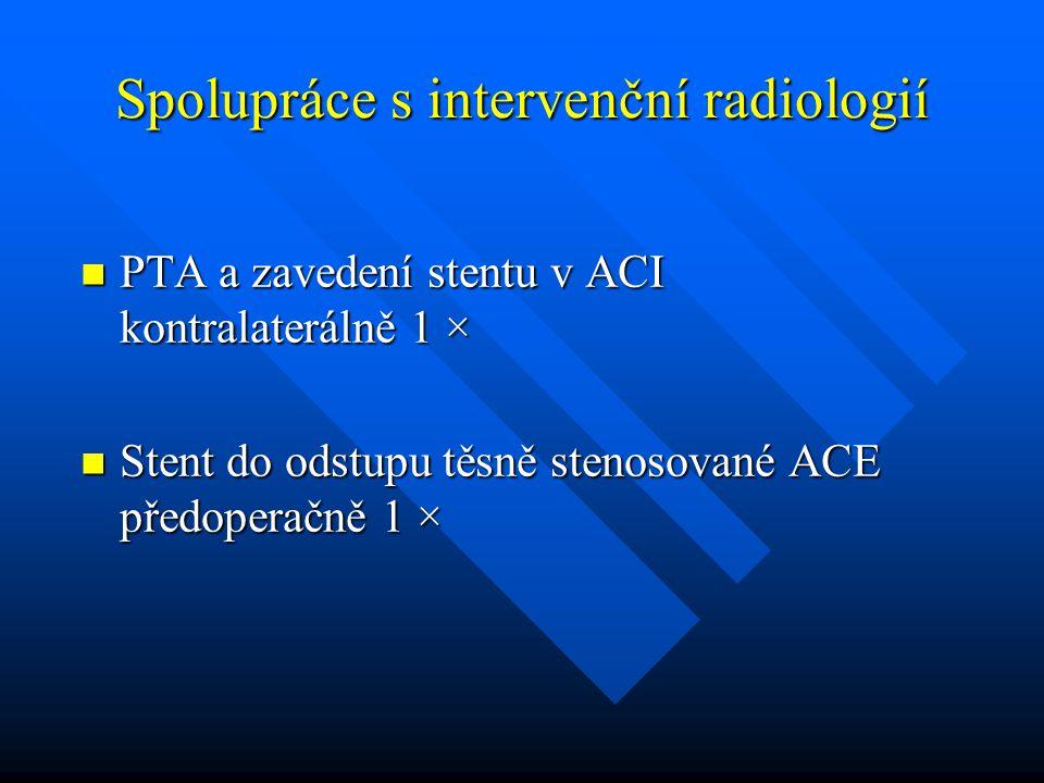 Spolupráce s intervenční radiologií