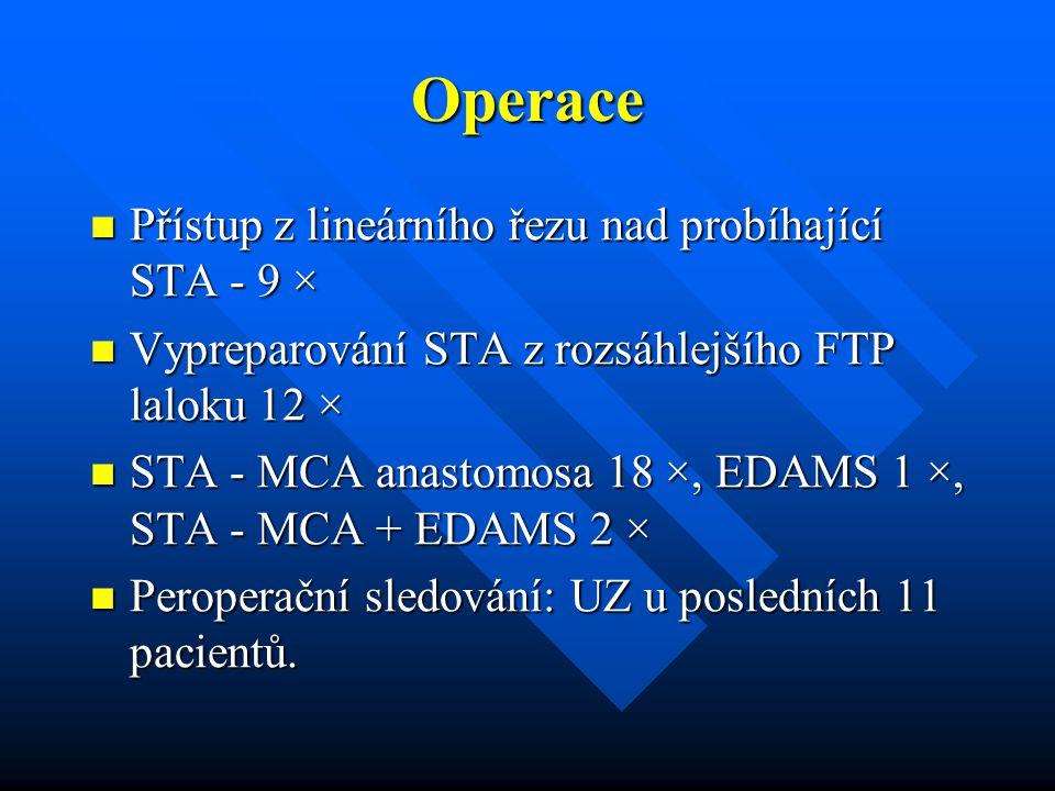 Operace Přístup z lineárního řezu nad probíhající STA - 9 ×