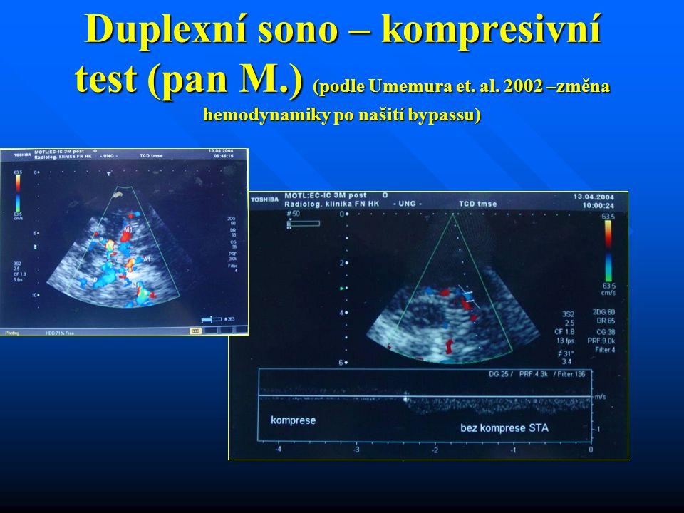 Duplexní sono – kompresivní test (pan M. ) (podle Umemura et. al
