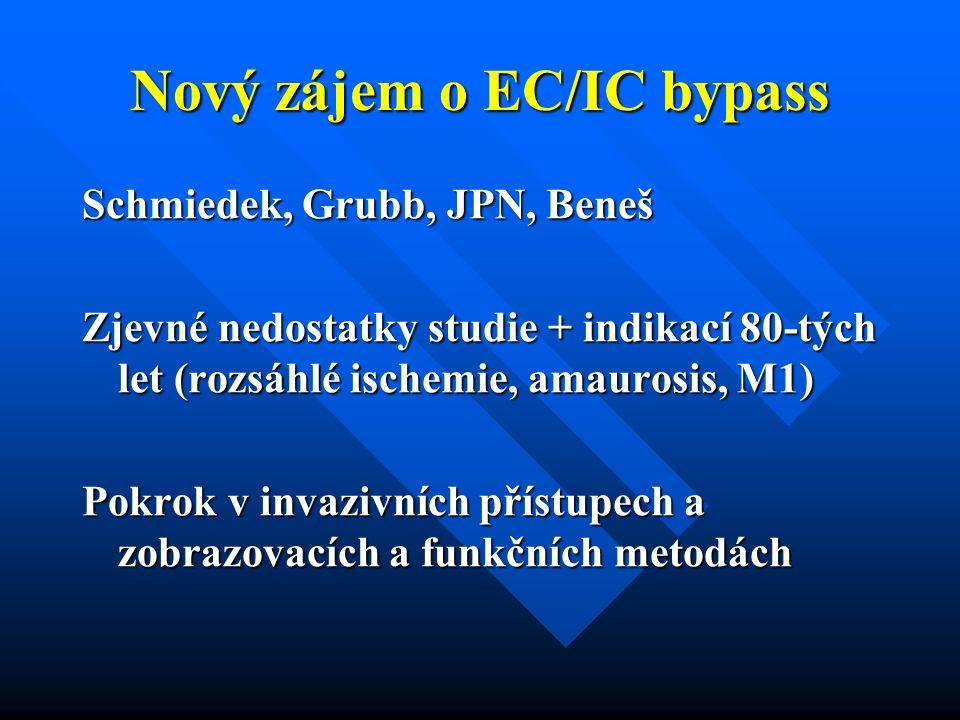 Nový zájem o EC/IC bypass