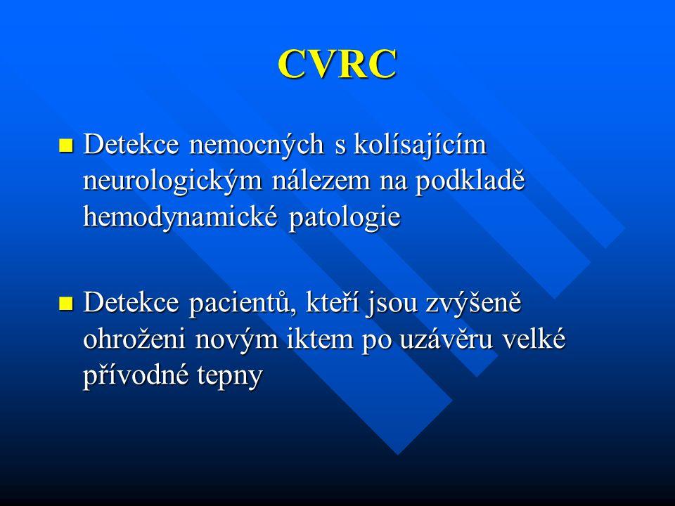 CVRC Detekce nemocných s kolísajícím neurologickým nálezem na podkladě hemodynamické patologie.