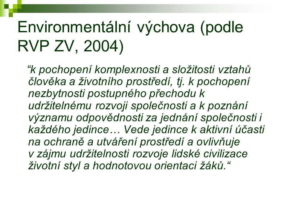 Environmentální výchova (podle RVP ZV, 2004)