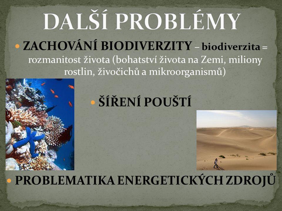 PROBLEMATIKA ENERGETICKÝCH ZDROJŮ