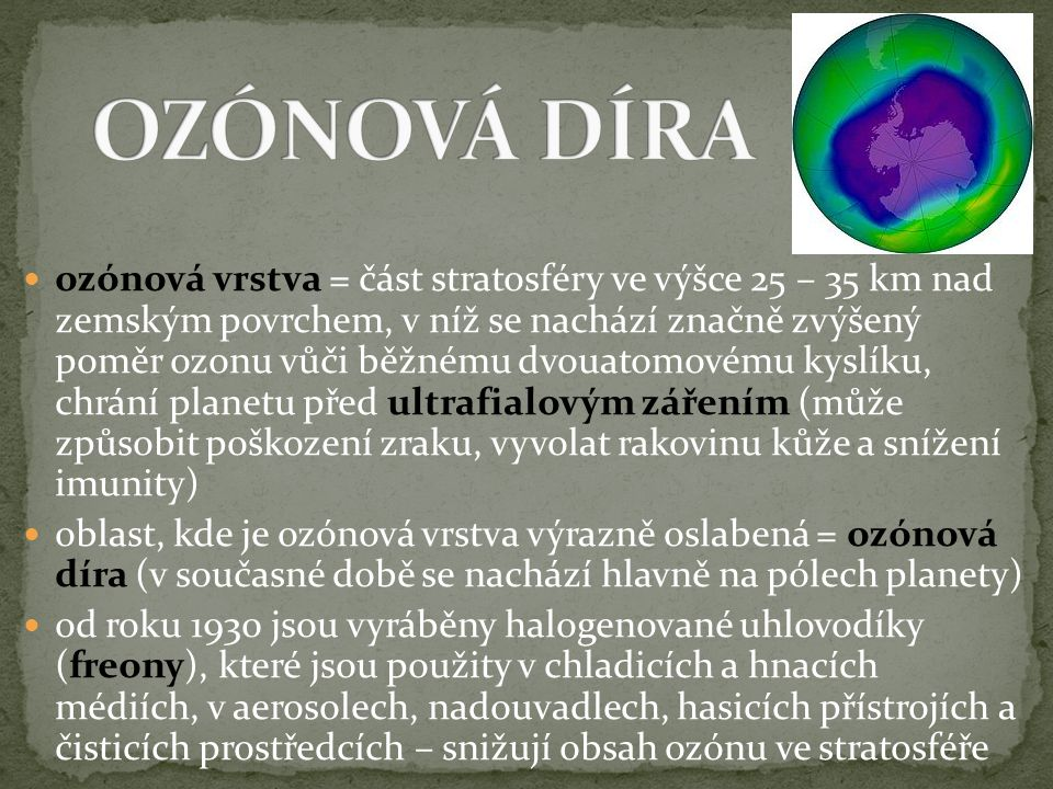 OZÓNOVÁ DÍRA