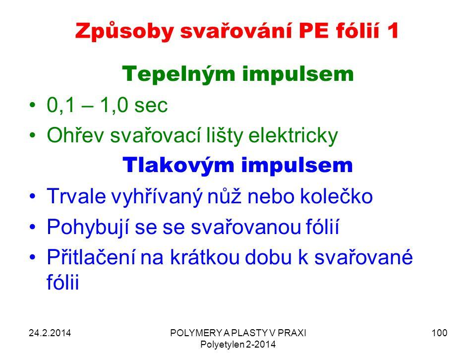 Způsoby svařování PE fólií 1