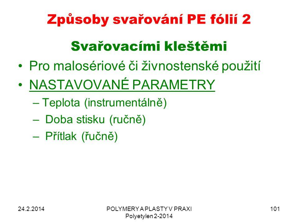 Způsoby svařování PE fólií 2