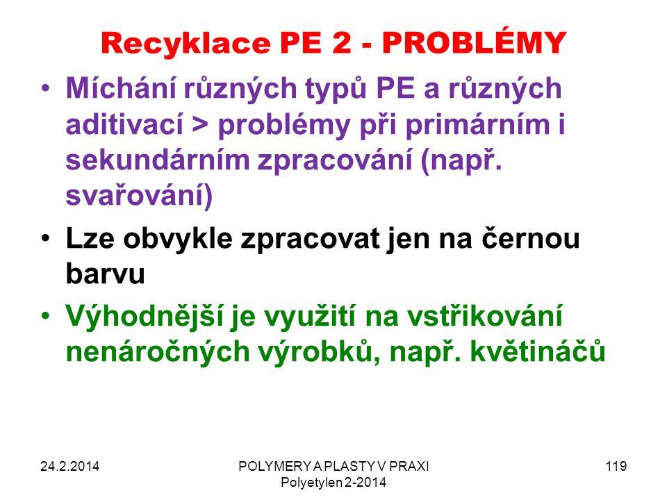 Recyklace PE 2 - PROBLÉMY