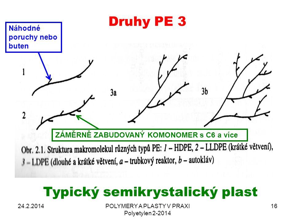 Typický semikrystalický plast