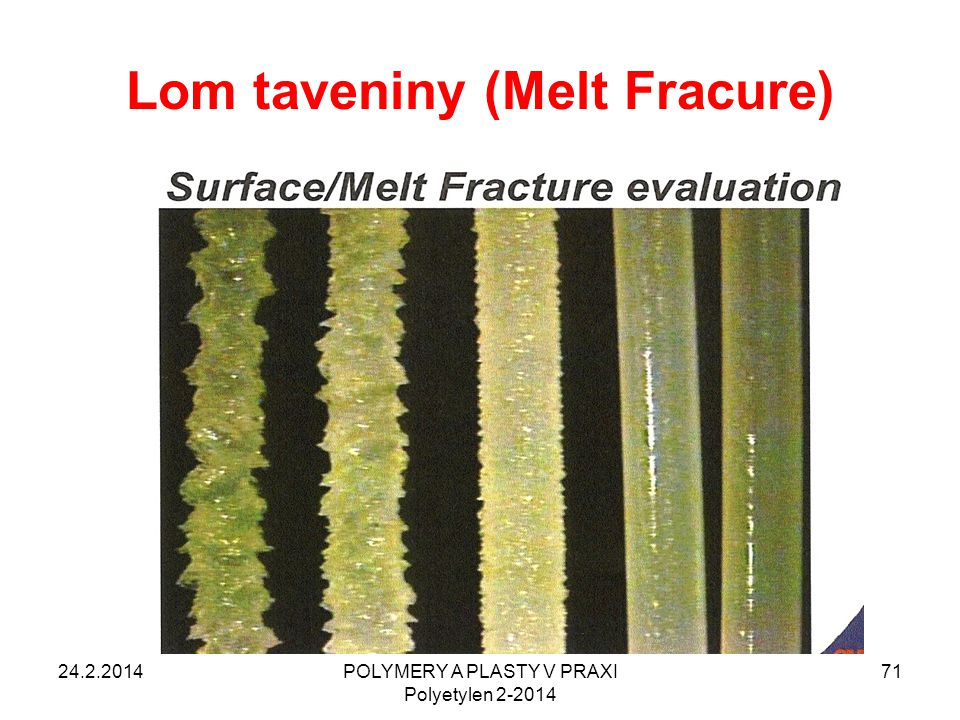 Lom taveniny (Melt Fracure)