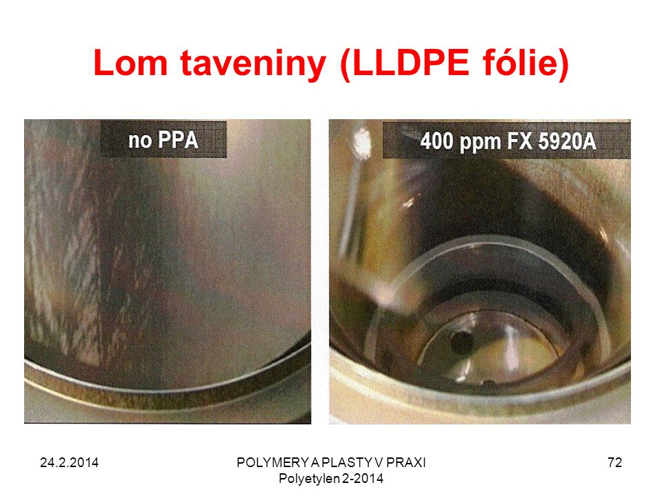 Lom taveniny (LLDPE fólie)
