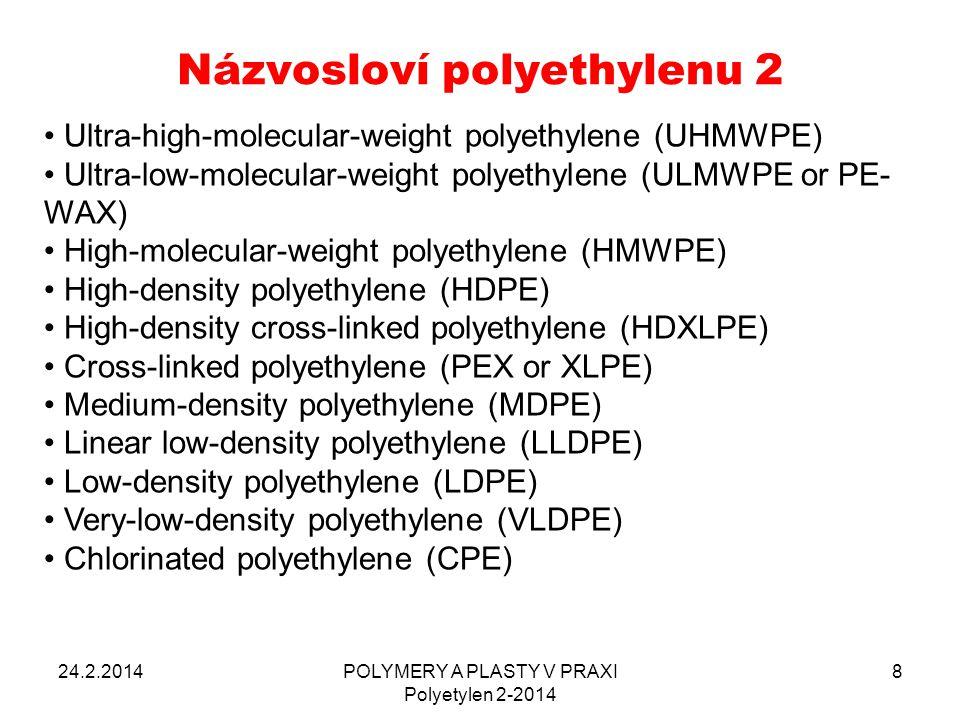 Názvosloví polyethylenu 2