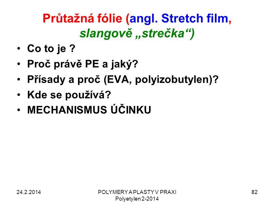 """Průtažná fólie (angl. Stretch film, slangově """"strečka )"""