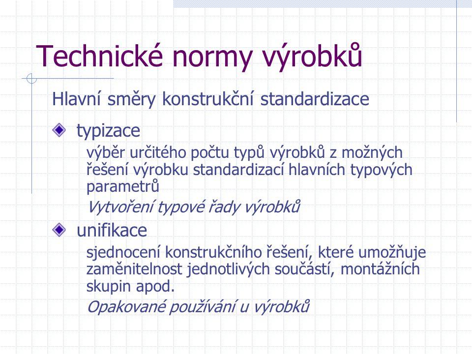 Technické normy výrobků