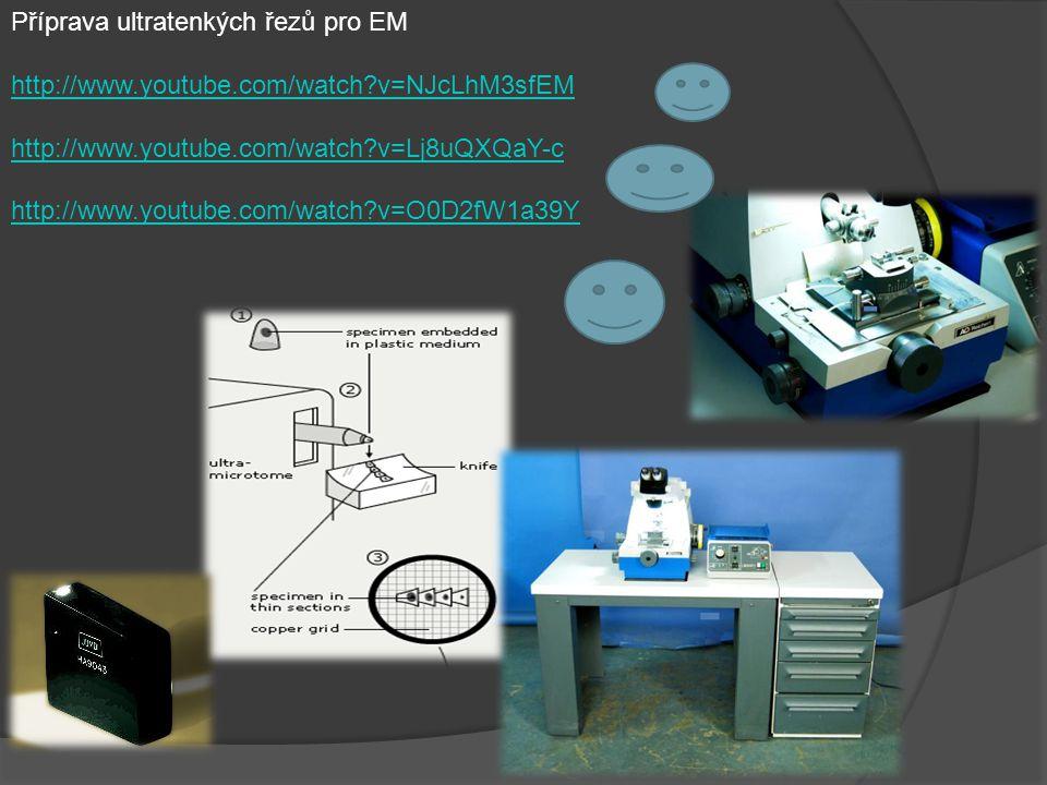 Příprava ultratenkých řezů pro EM