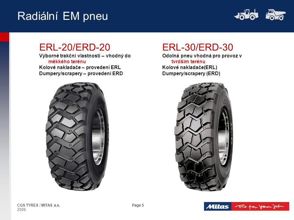 Radiální EM pneu ERL-20/ERD-20 ERL-30/ERD-30