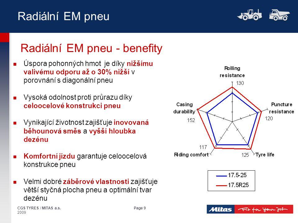 Radiální EM pneu - benefity