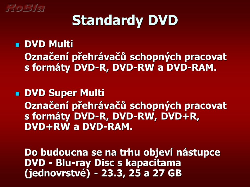 Standardy DVD DVD Multi