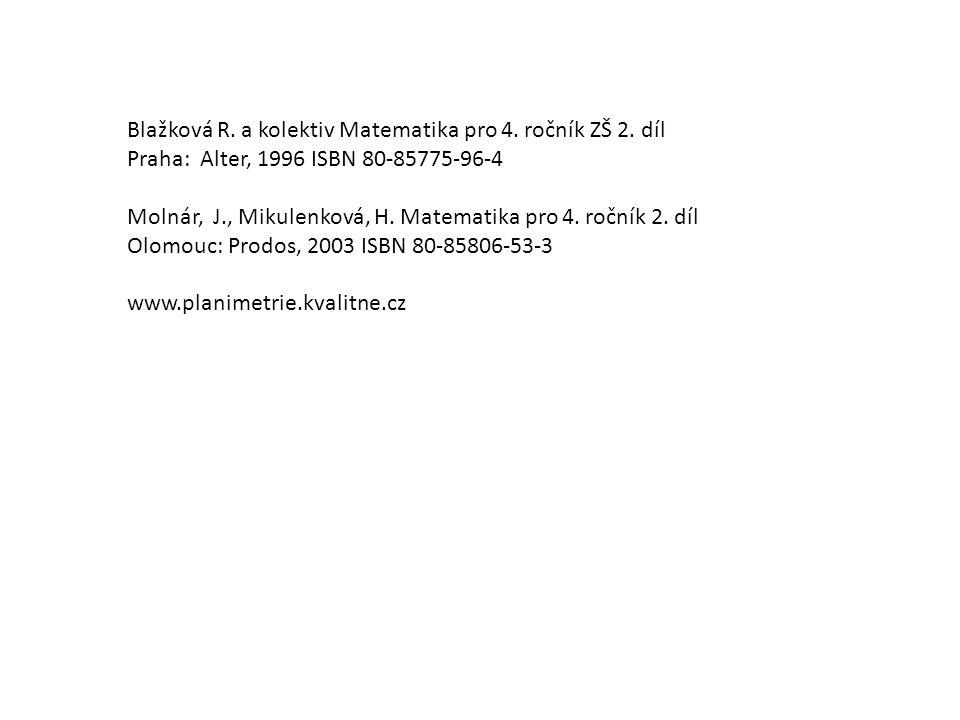 Blažková R. a kolektiv Matematika pro 4. ročník ZŠ 2. díl