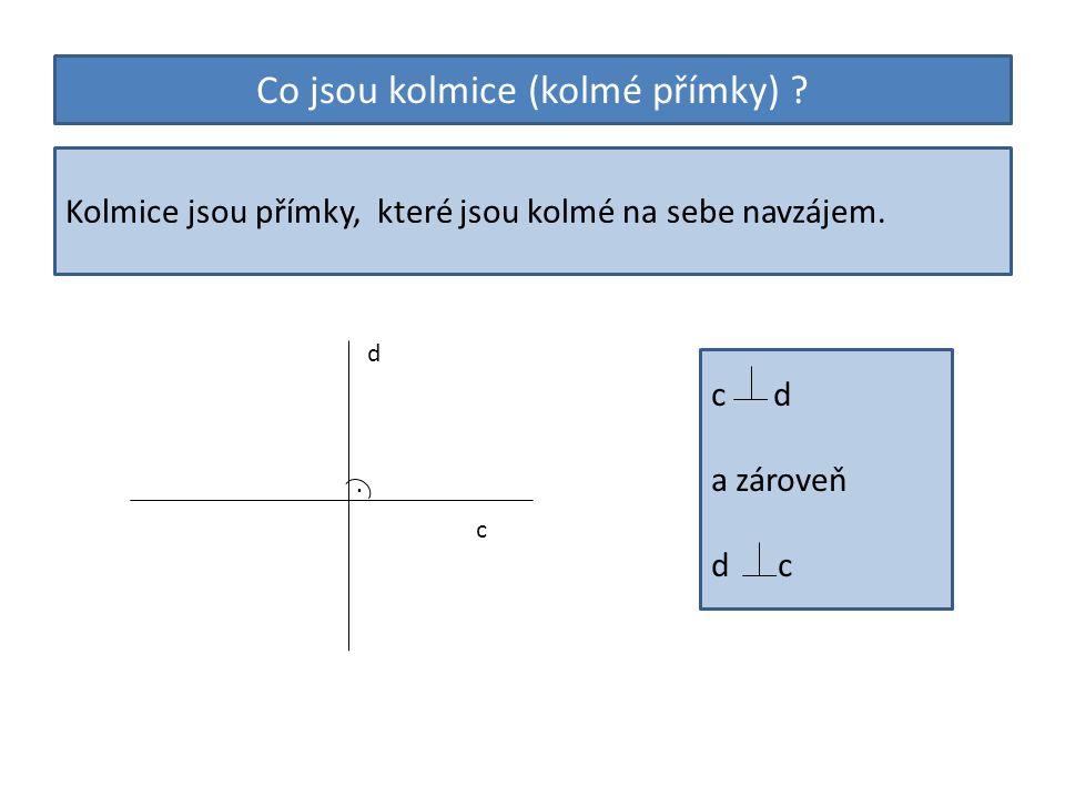 Co jsou kolmice (kolmé přímky)