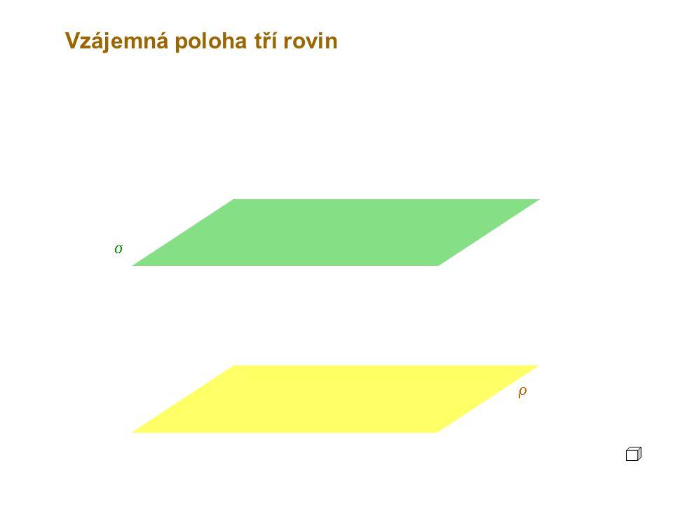 Vzájemná poloha tří rovin