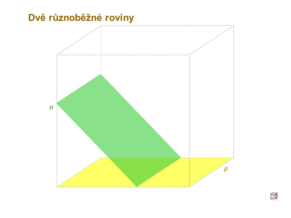 Dvě různoběžné roviny s r