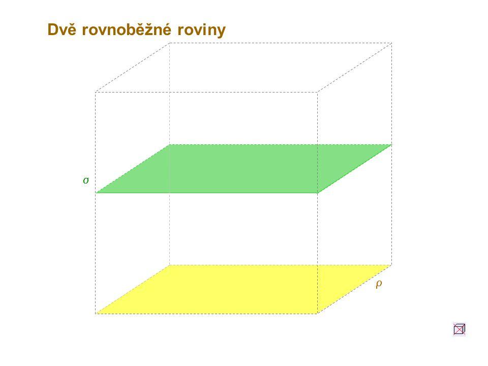 Dvě rovnoběžné roviny s r