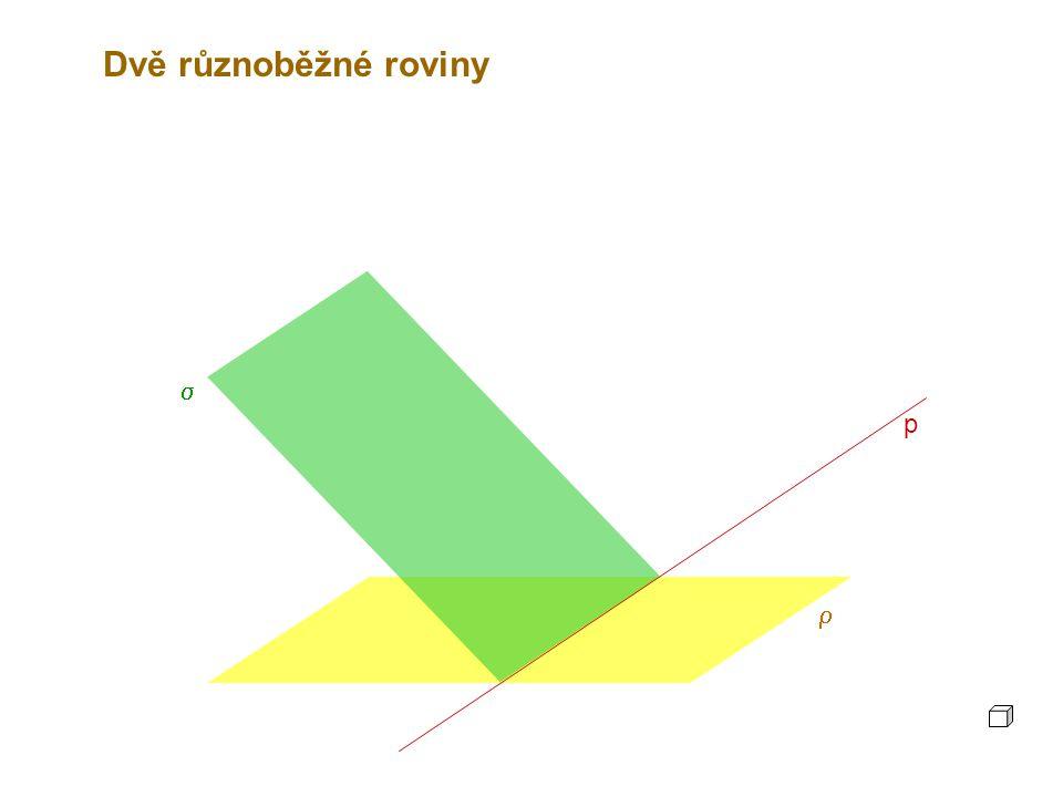 Dvě různoběžné roviny s p r