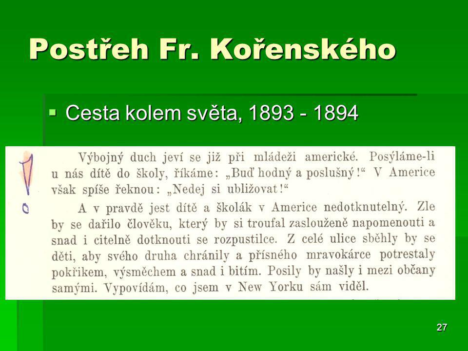 Postřeh Fr. Kořenského Cesta kolem světa, 1893 - 1894