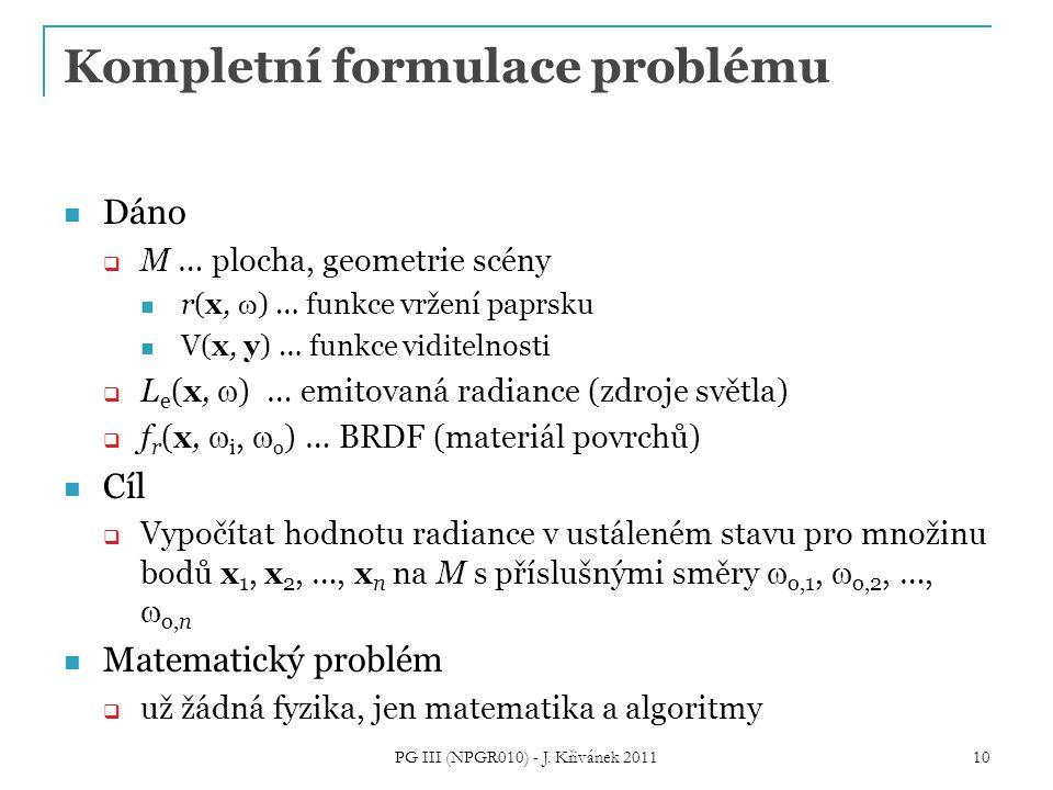 Kompletní formulace problému