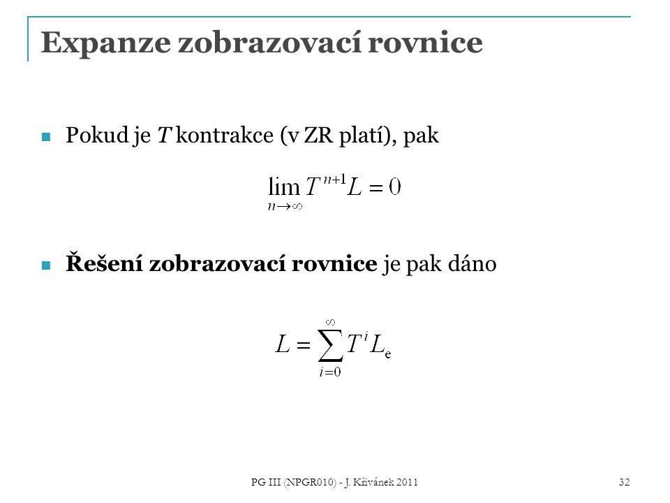 Expanze zobrazovací rovnice