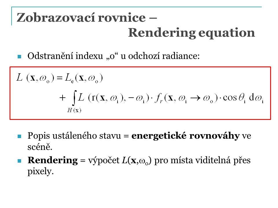 Zobrazovací rovnice – Rendering equation