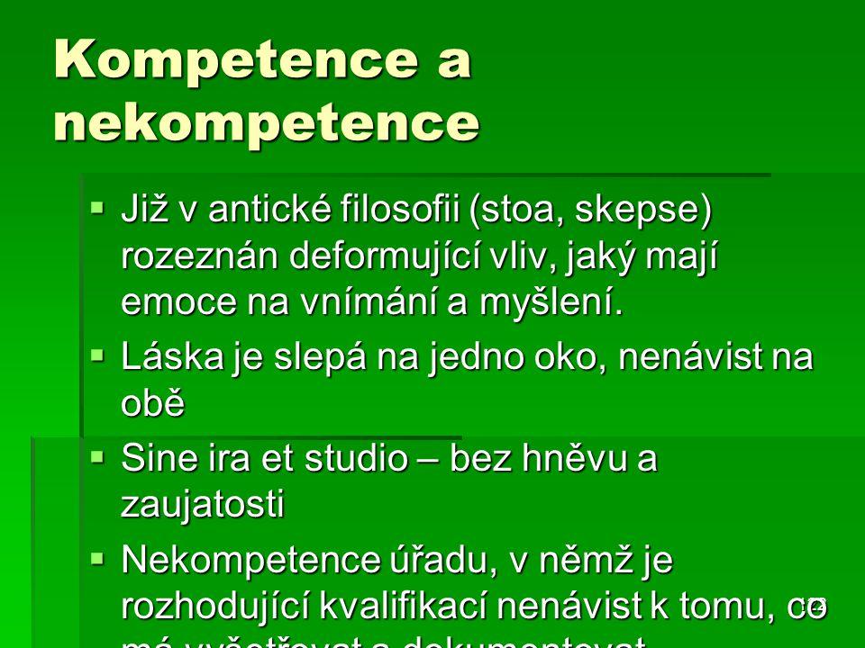 Kompetence a nekompetence