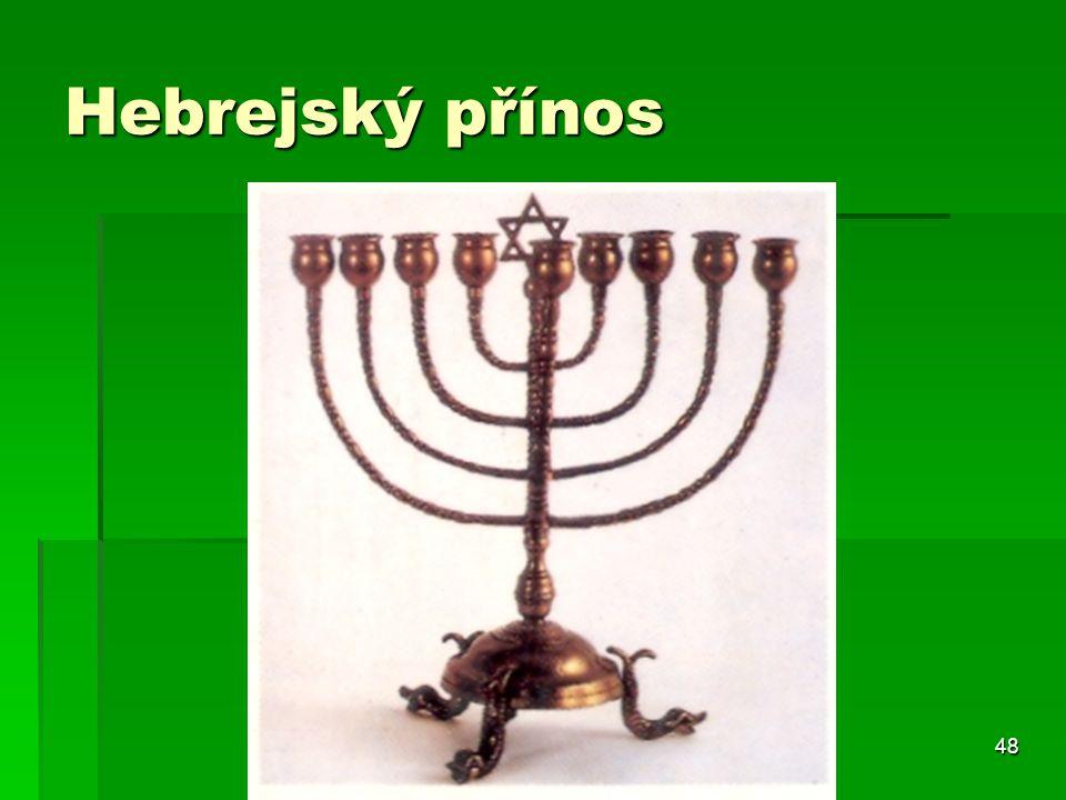 Hebrejský přínos