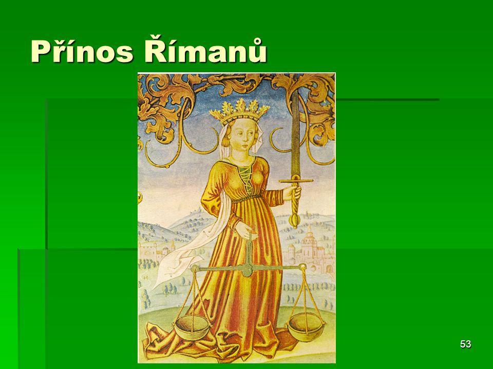 Přínos Římanů