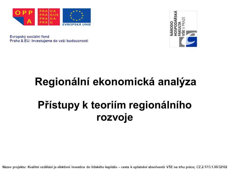 Regionální ekonomická analýza