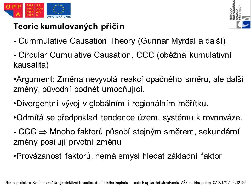 Teorie kumulovaných příčin