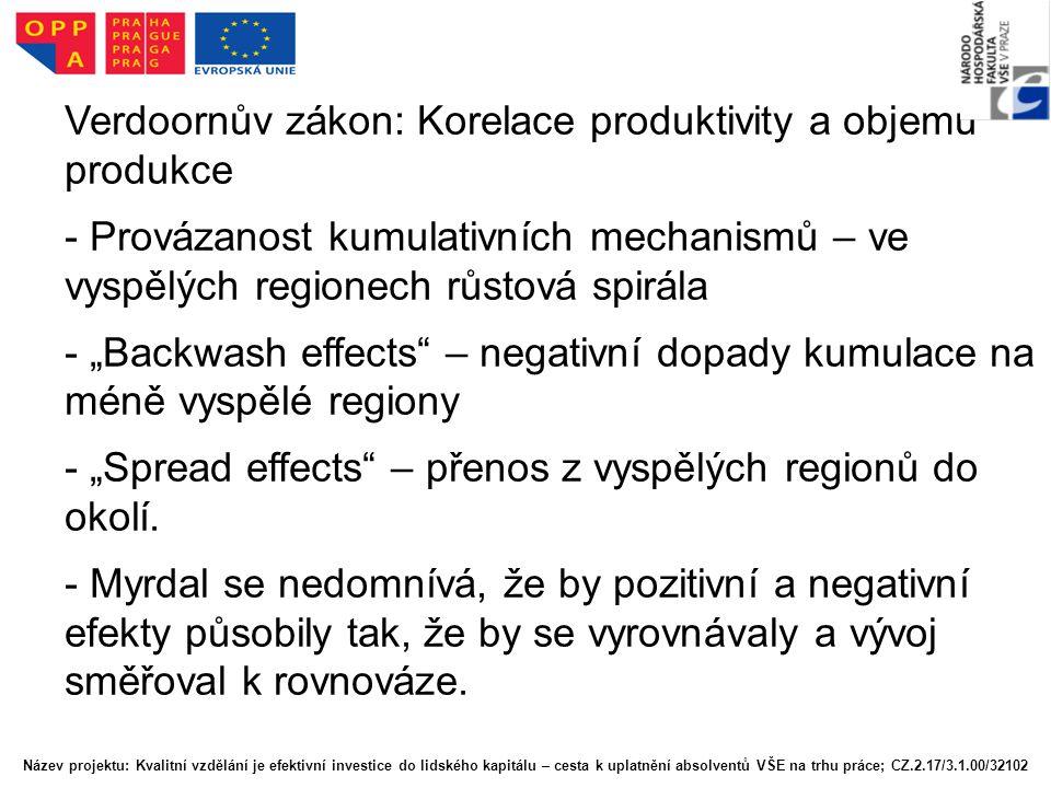 Verdoornův zákon: Korelace produktivity a objemu produkce
