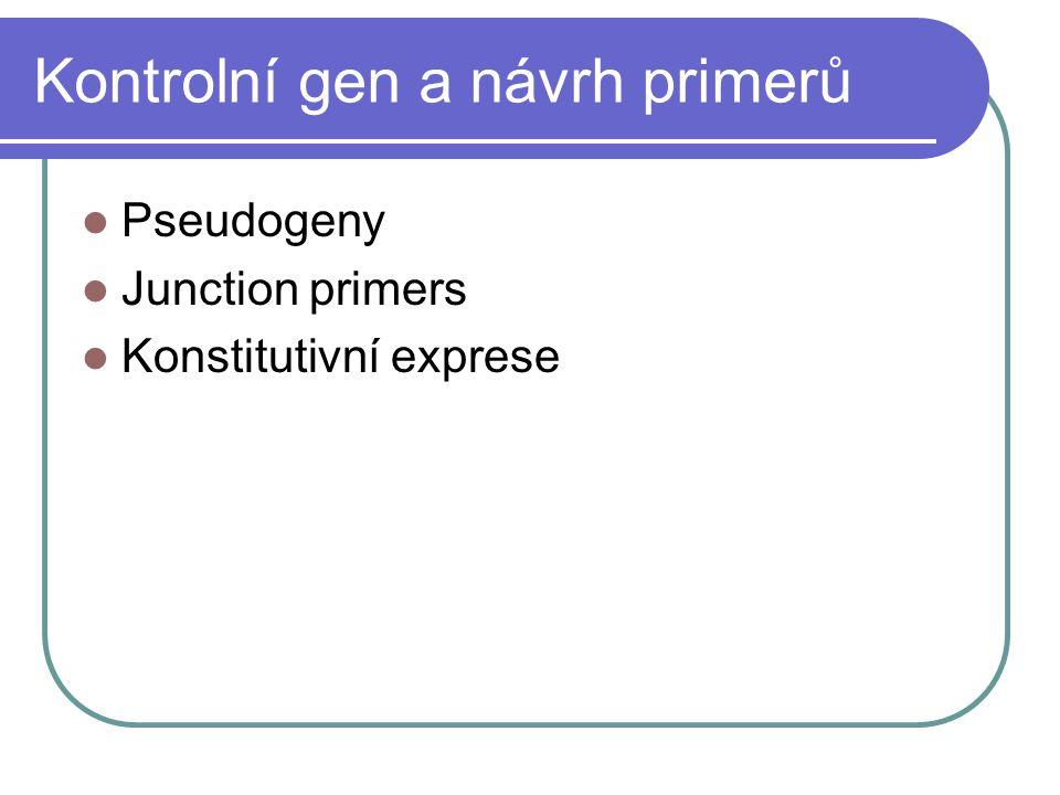 Kontrolní gen a návrh primerů