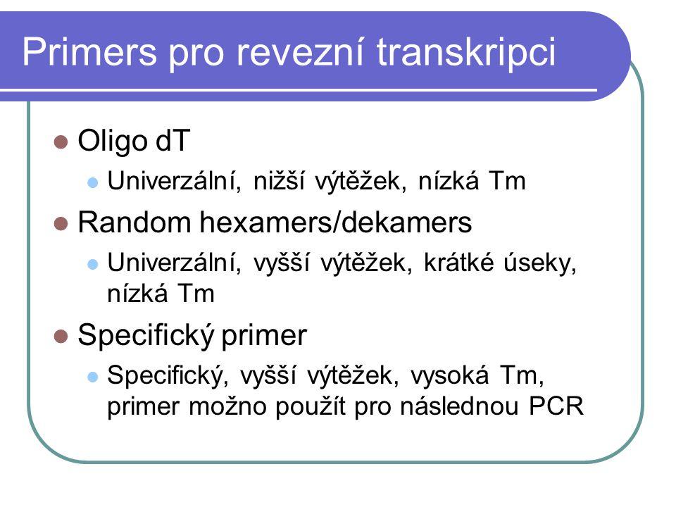 Primers pro revezní transkripci