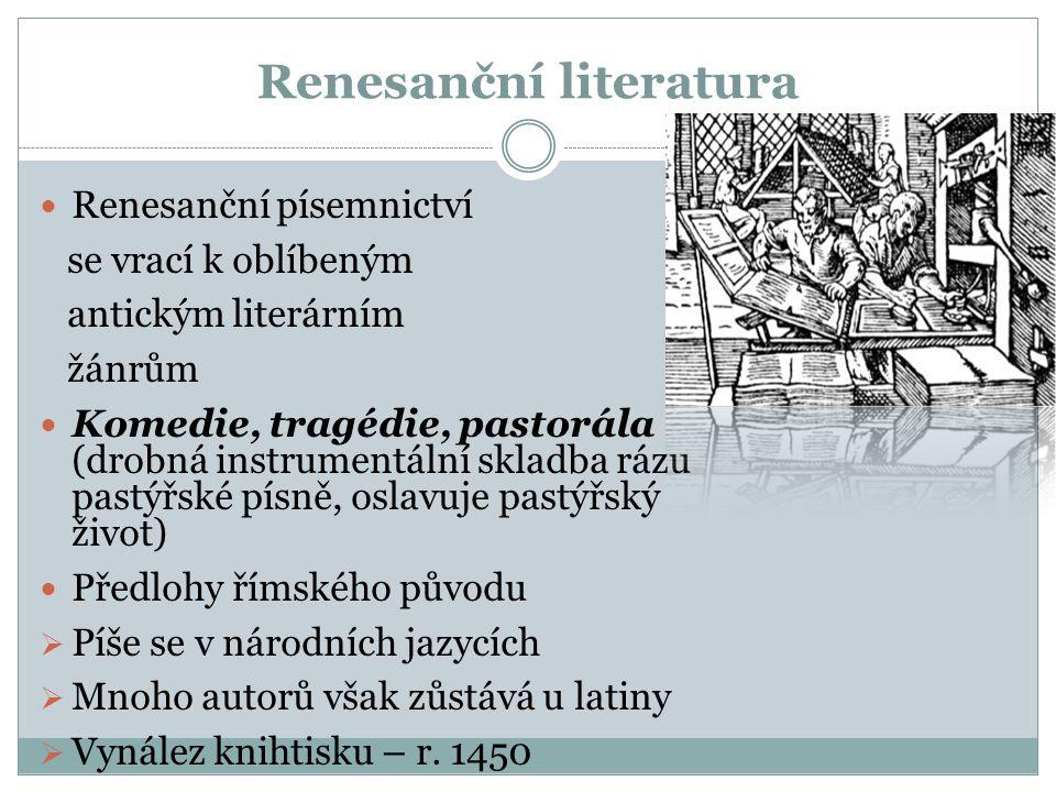 Renesanční literatura