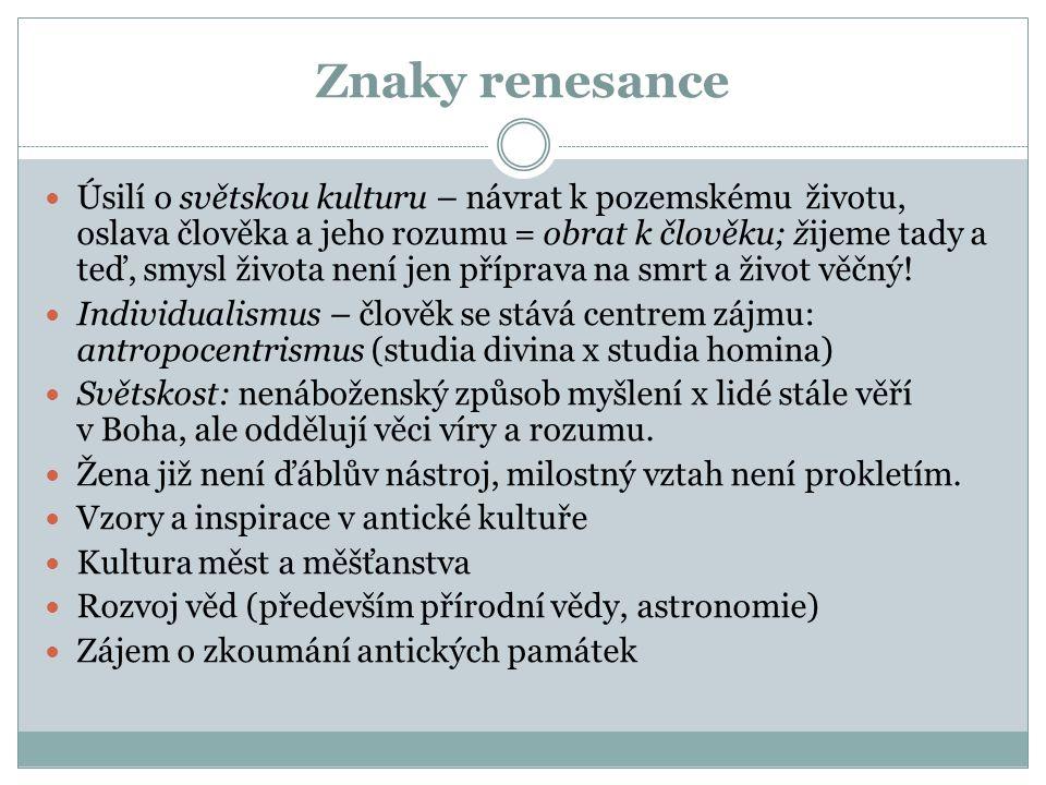 Znaky renesance