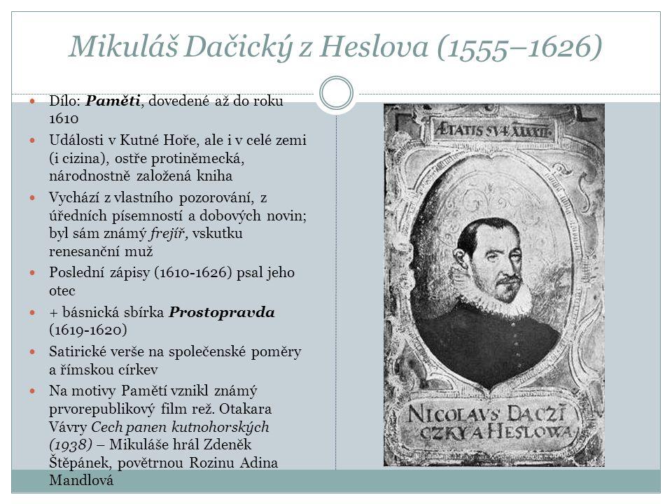 Mikuláš Dačický z Heslova (1555–1626)
