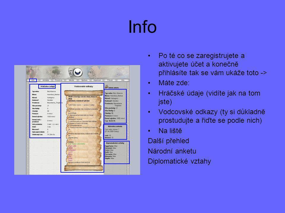 Info Po té co se zaregistrujete a aktivujete účet a konečně přihlásíte tak se vám ukáže toto -> Máte zde: