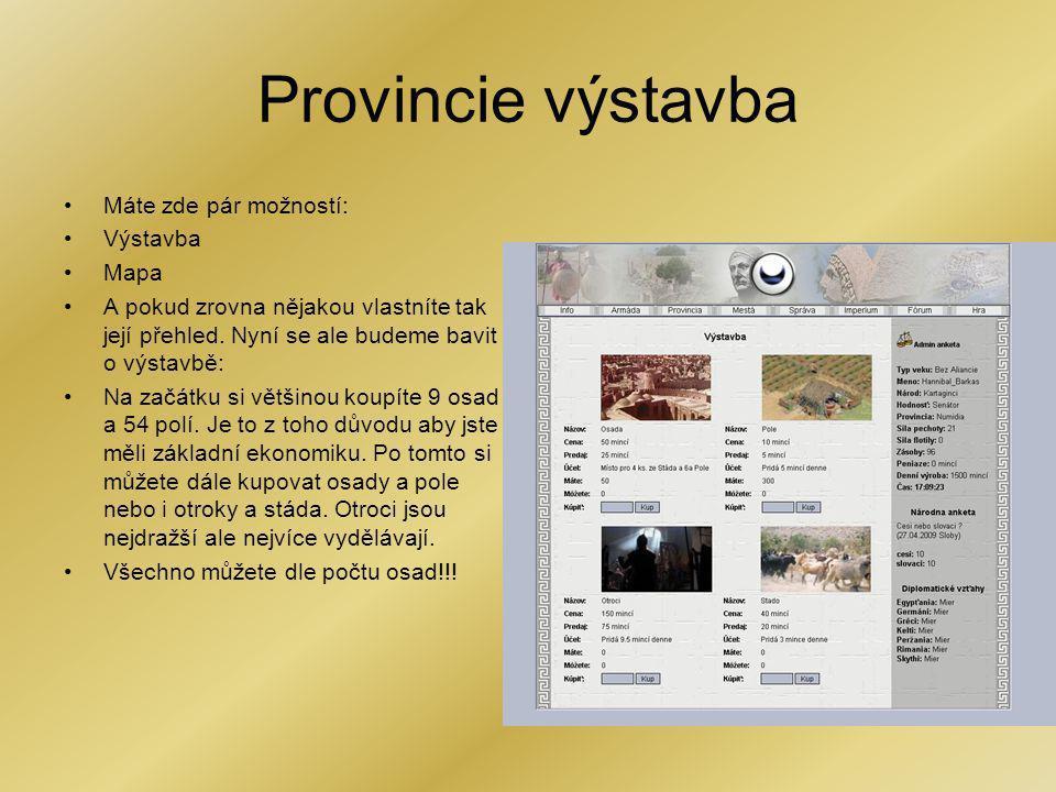 Provincie výstavba Máte zde pár možností: Výstavba Mapa