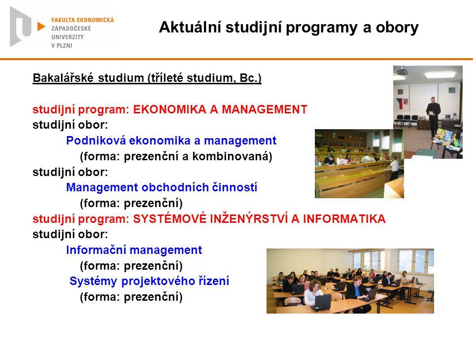 Aktuální studijní programy a obory