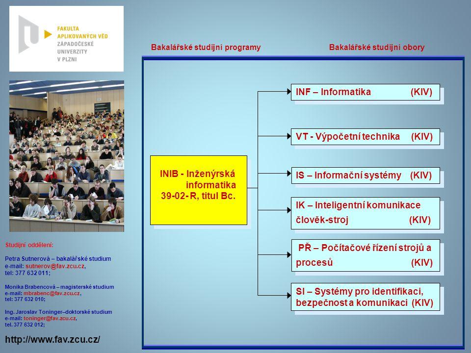 INIB - Inženýrská informatika 39-02- R, titul Bc.