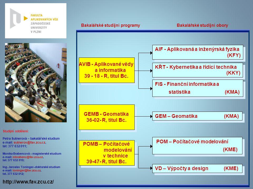 AIF - Aplikovaná a inženýrská fyzika (KFY)